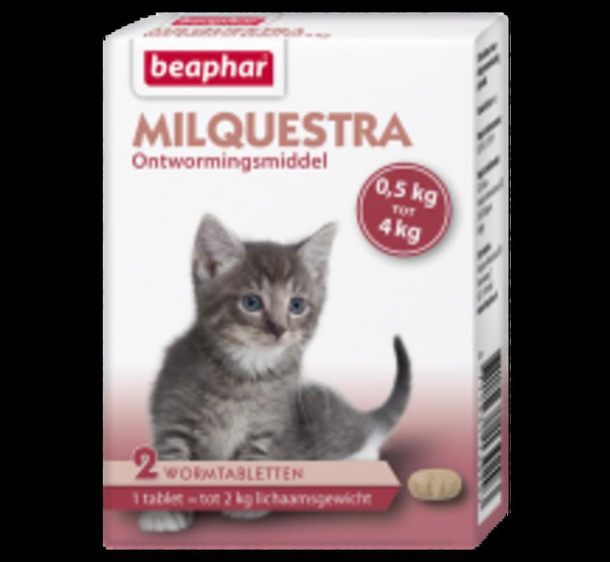 Beaphar Milquestra kat klein / kitten (0,5 tot 4kg) 2 tabl