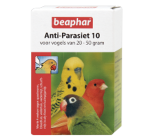 Beaphar Beaphar anti-parasiet 10 vogel 20-50g 2 pip