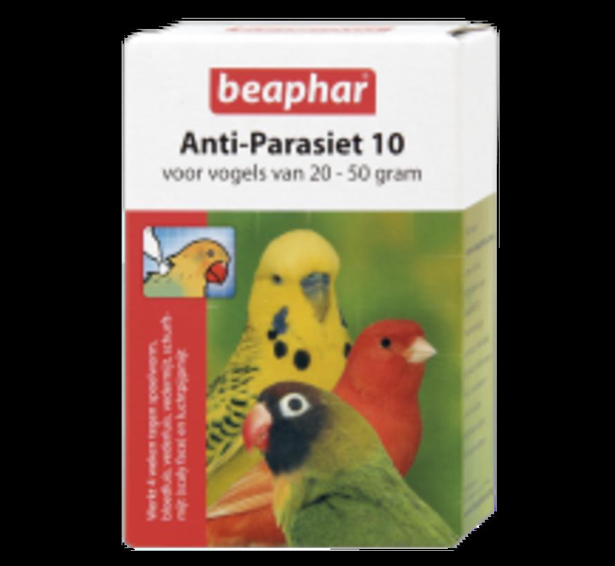 Beaphar anti-parasiet 10 vogel 20-50g 2 pip
