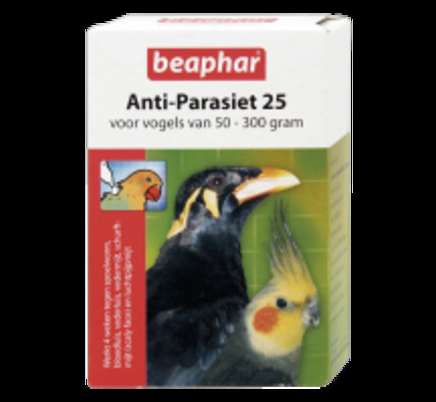 Beaphar anti-parasiet 25 vogel 50-300g 2 pip