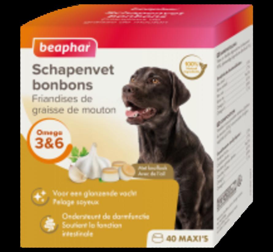 Beaphar schapenvet bonbons maxi  knoflook 245 gr