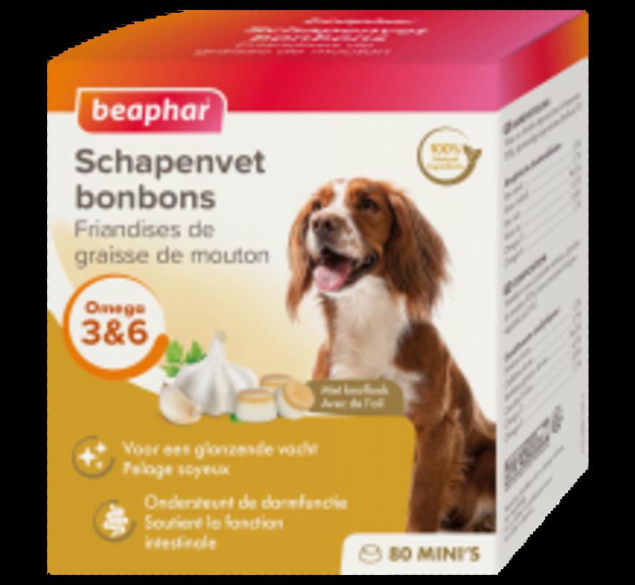 Beaphar schapenvet bonbons mini knoflook 245 gr