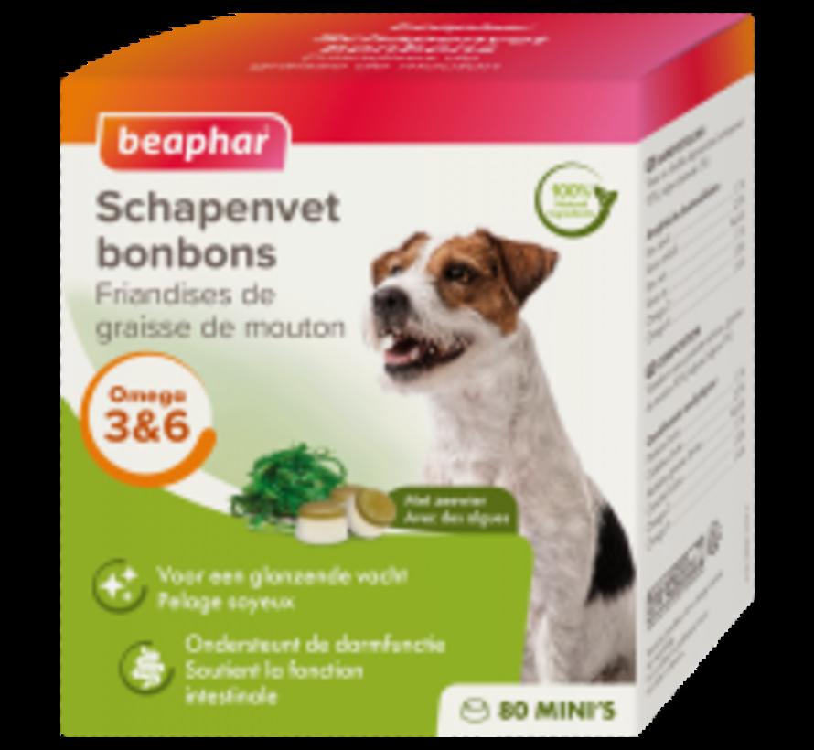 Beaphar schapenvet bonbons mini zeewier 245 gr