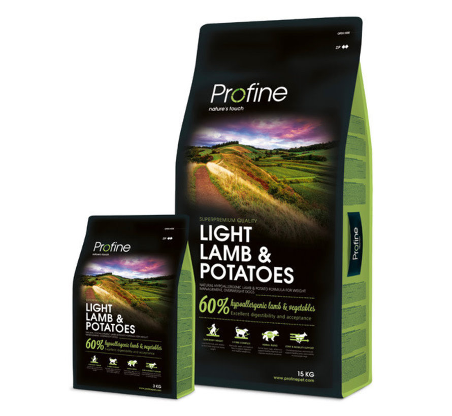 Profine droog ad light lam aardappel  3 kg