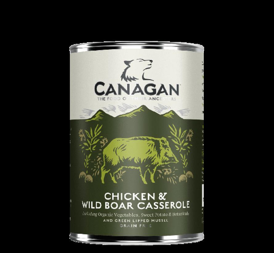 Canagan Chicken & Wild Boar blikvoeding 400 gram