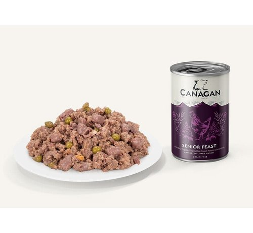 Canagan Canagan Senior Feast blikvoeding 400 gram