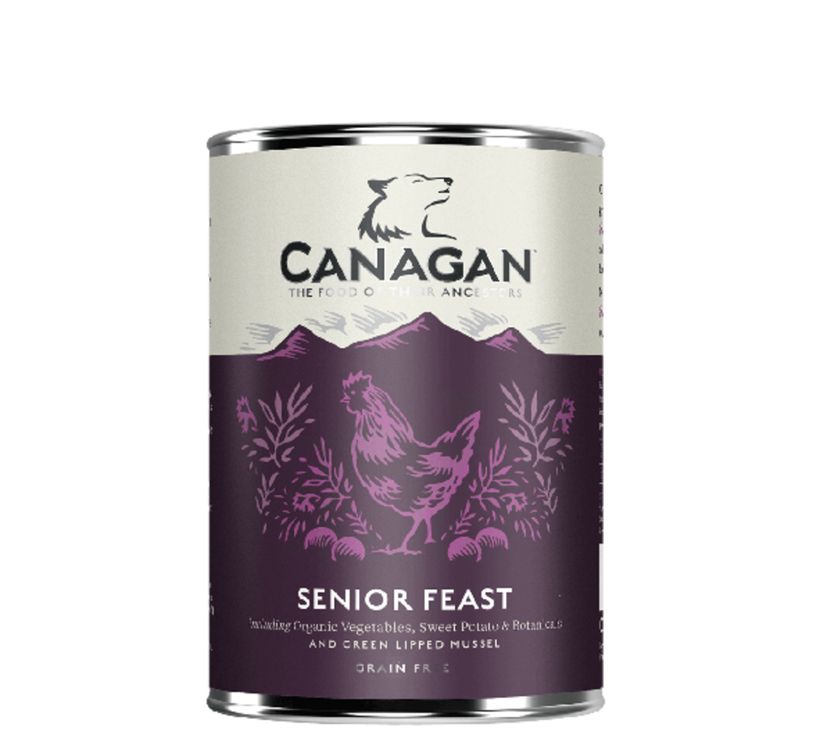 Canagan Senior Feast blikvoeding 400 gram