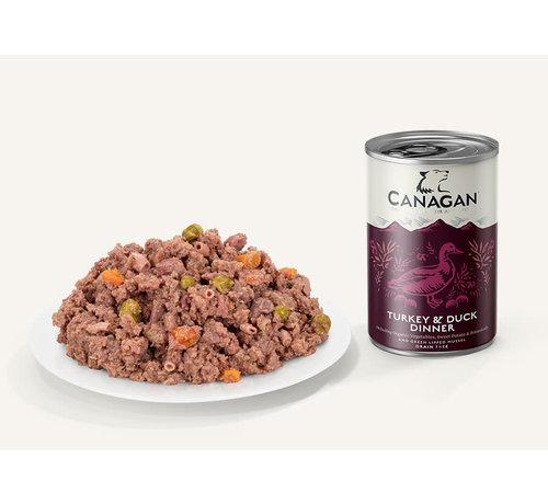 Canagan Canagan Turkey & Duck dinner blikvoeding 400 gram