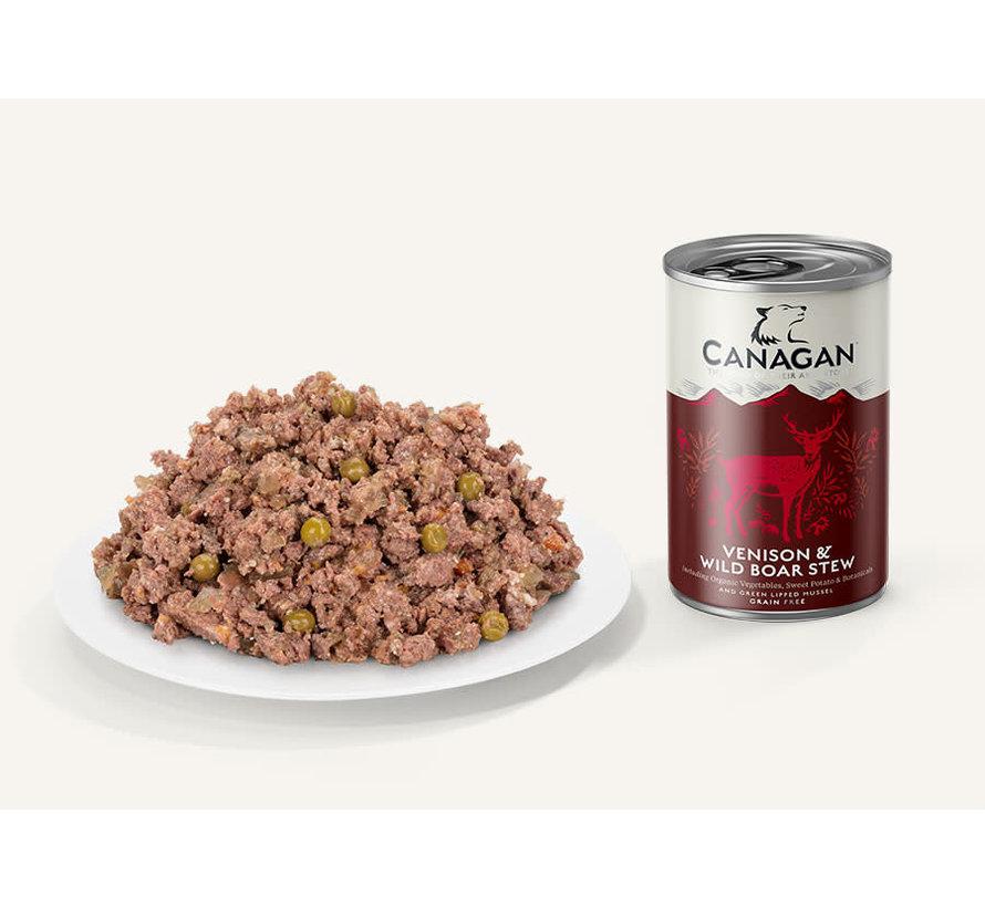 Canagan Venison & Wild Boar blikvoeding 400 gram