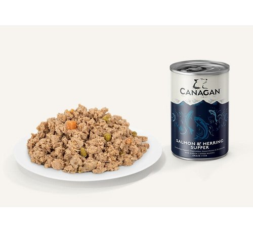 Canagan Canagan Zalm en Haring blikvoeding 400 gram
