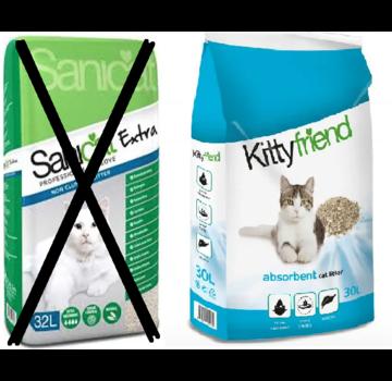 Sanicat Sanicat extra 32 ltr 20 kg word kitty friend