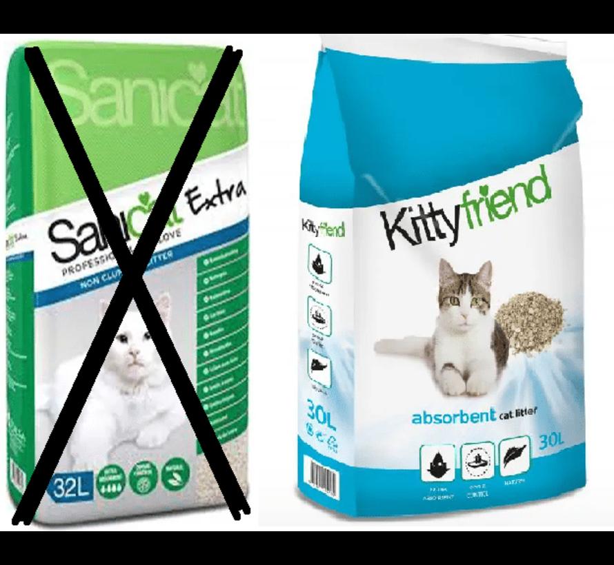 Sanicat extra 32 ltr 20 kg word kitty friend