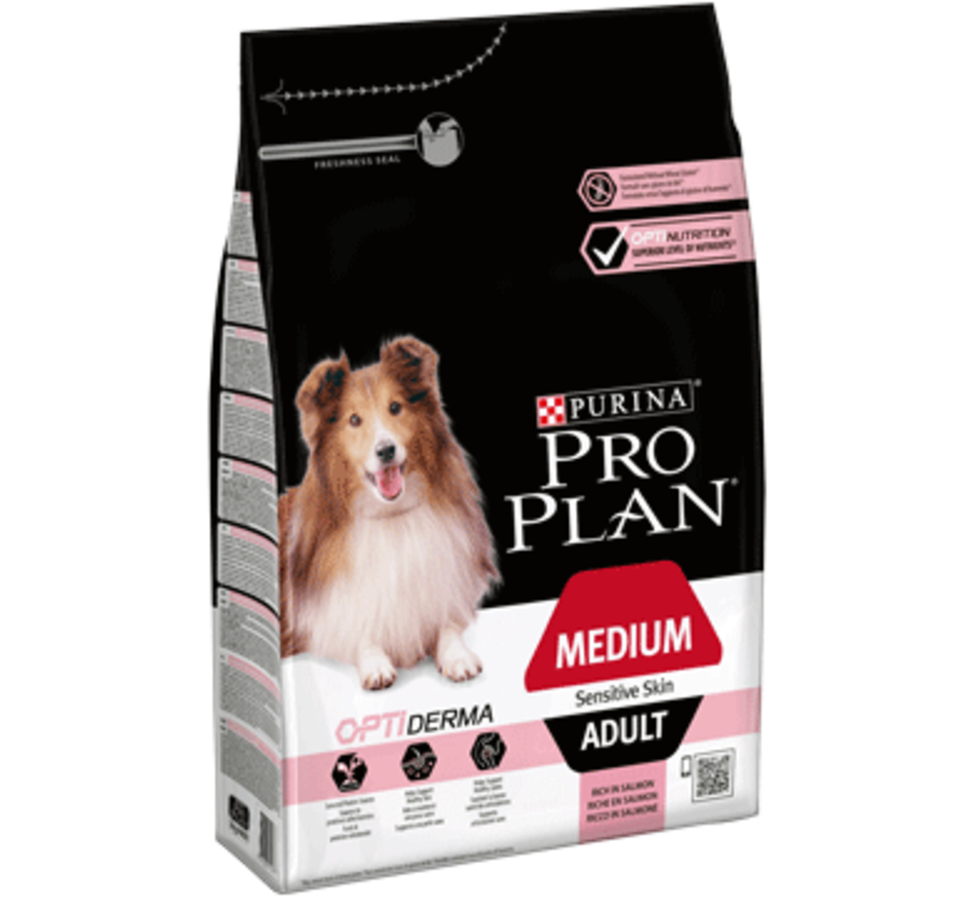 Pro Plan adult medium sensitive skin 3 kg