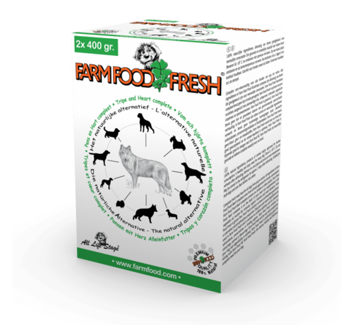 Farm Food Farm Food Fresh compleet pens hart 2x400 gr
