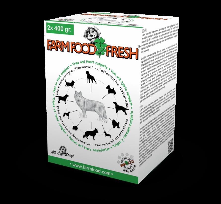 Farm Food Fresh compleet pens hart 2x400 gr
