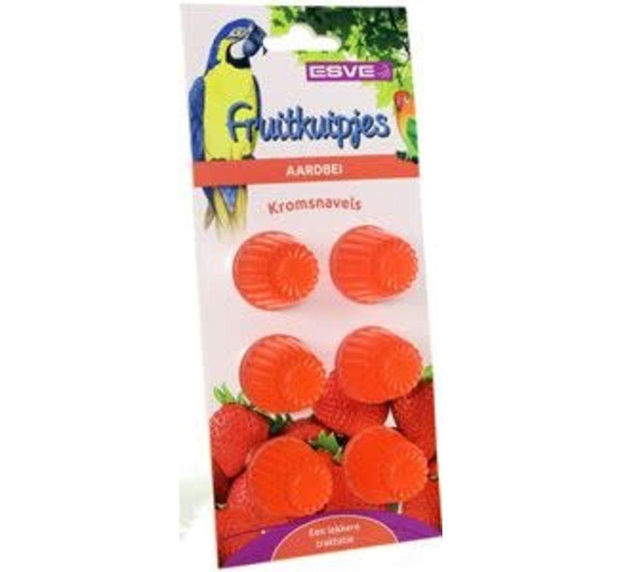Fruitkuipjes Aardbei 6 st