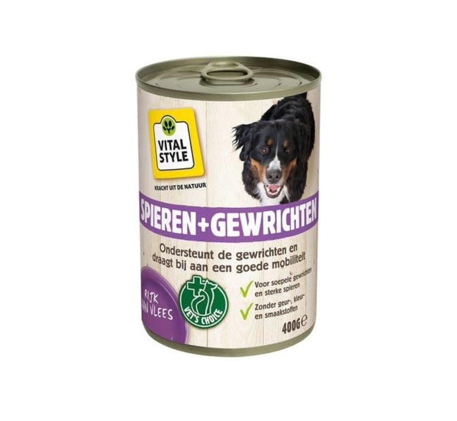 VITALstyle hond spier en gewrichten blik 400 gr