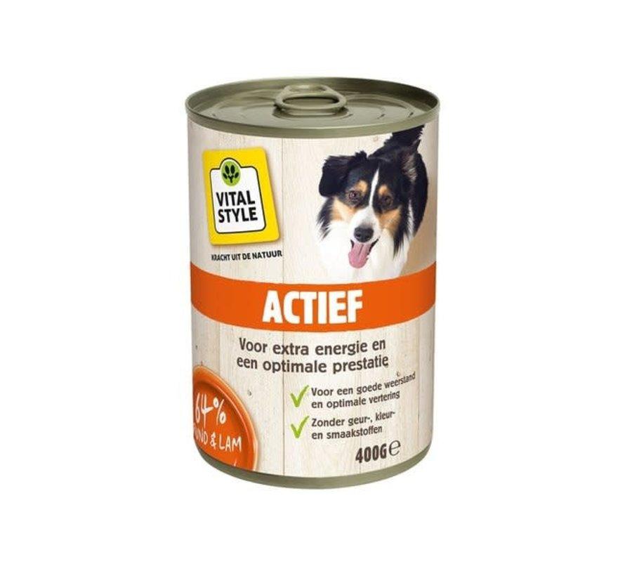 VITALstyle hond actief blik 400 gr