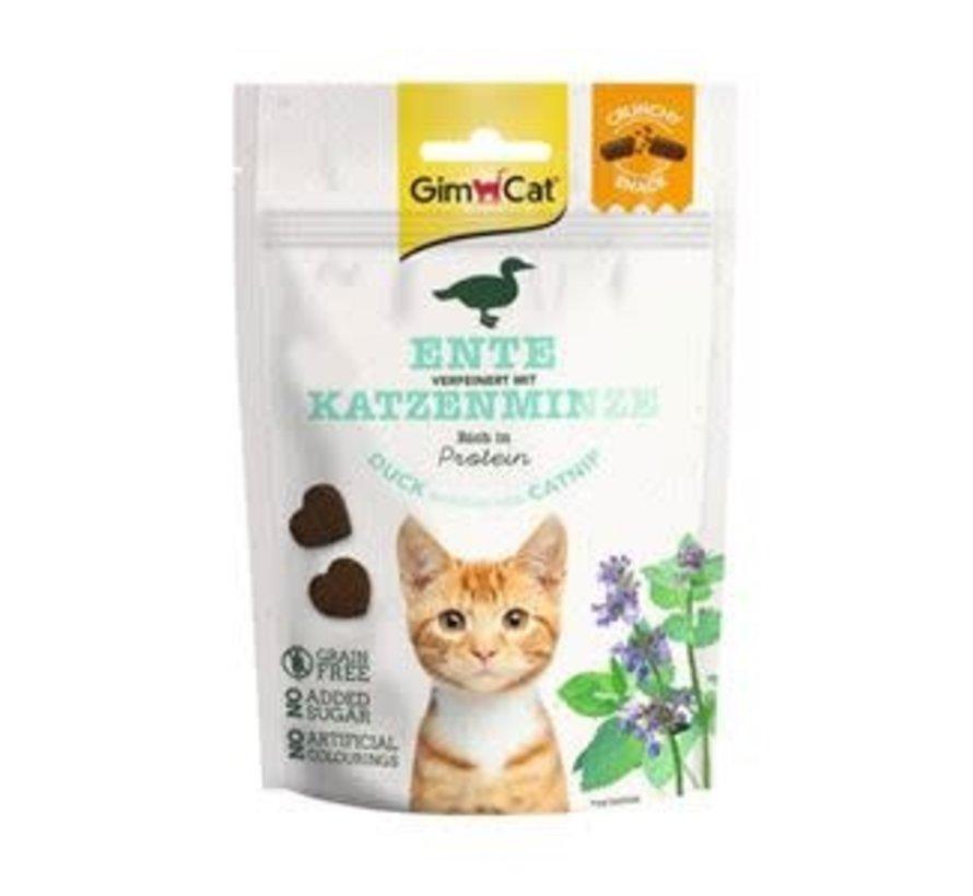 GimCat Crunchy Snack Eend & Catnip 50 gr
