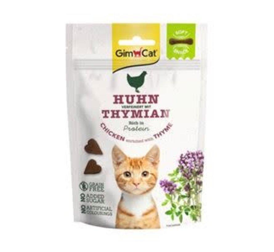 GimCat Soft Snack Kip & Tijm 60 gr