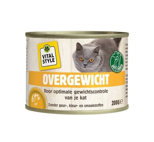 Vitalstyle VITALstyle kat overgewicht blik 200 gr