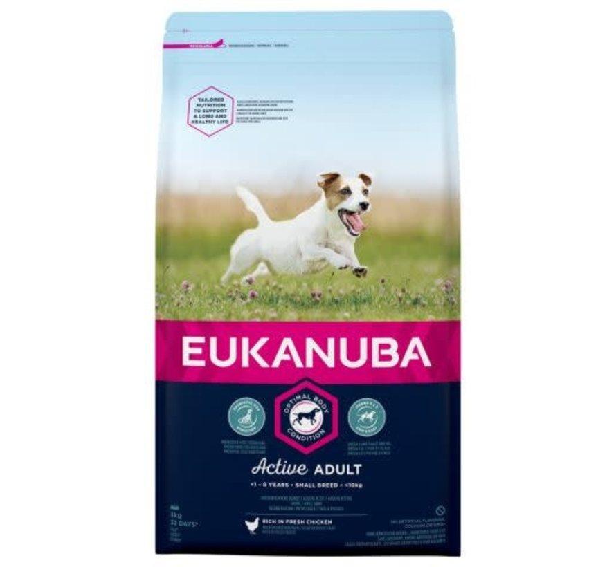 Eukanuba dog active adult small 3 kg