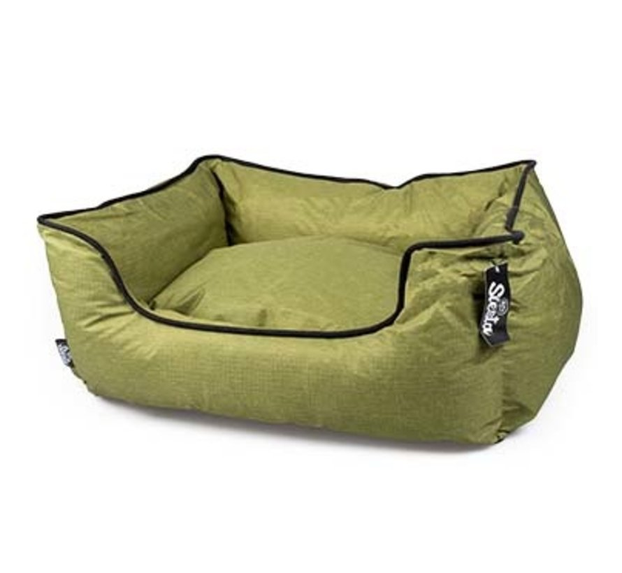 Poly bed siesta olive Groen  M 85x70x22cm