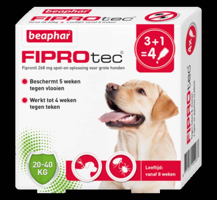 Beaphar fiprotec hond 20-40 kg 4 pip