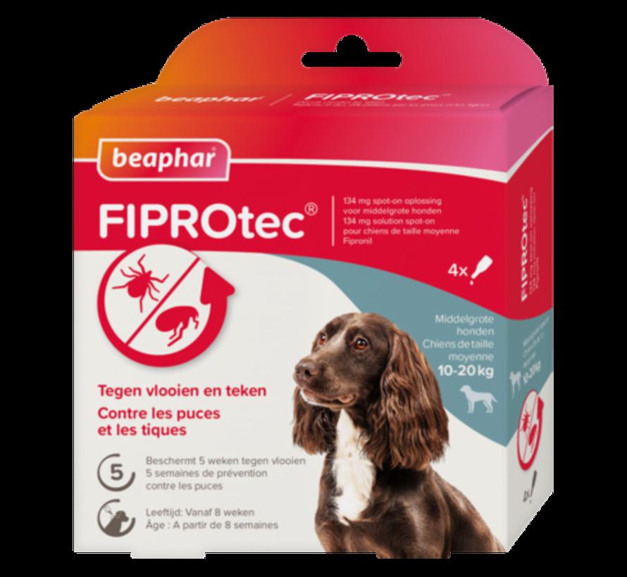 Beaphar Fiprotec hond 10-20 kg 4 pip