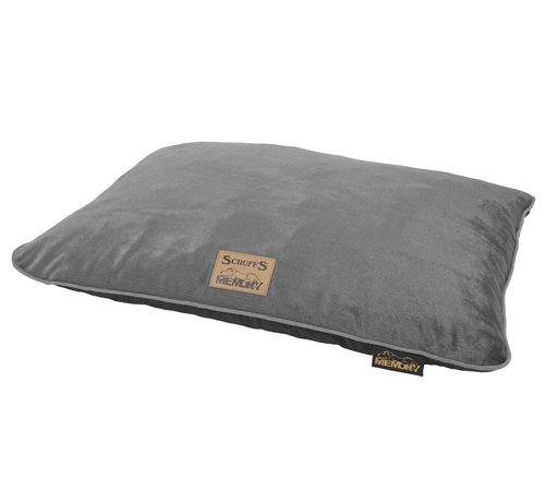 Scruffs Scruffs Bolster Orthopaedic Pillow Bed Plush Grey M