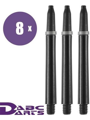 ABCDarts Nylon Dart Shafts Zwart - 8 sets