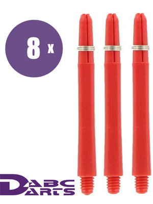 ABCDarts ABC Darts – Nylon Dart Shafts Rood - 8 sets