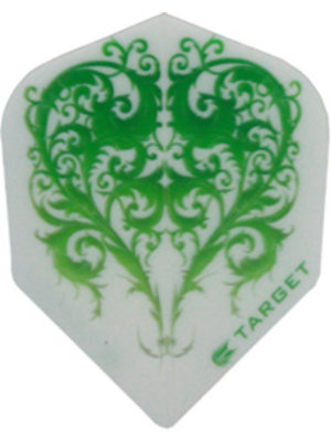 Target darts Target darts 117350 - dartflights vision green heart