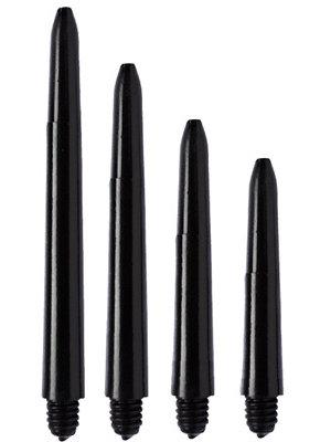 ABCDarts ABC Darts – Kunststof Shafts Nylon Met Ring - Zwart