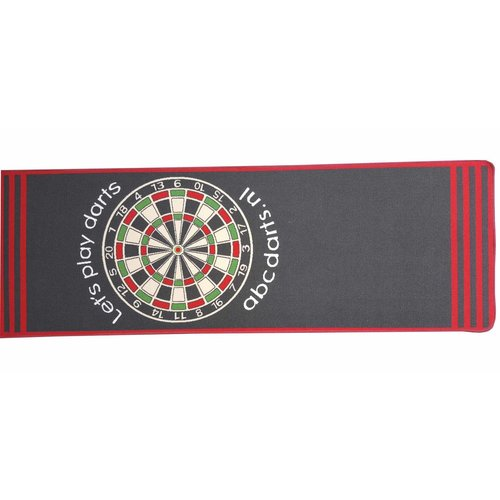 ABCDarts Dartmat tapijt antracite - 80 x 241 cm