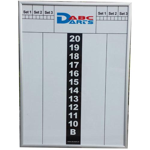 ABCDarts ABC Darts – Whiteboard Scorebord Met Aluminium Omlijsting