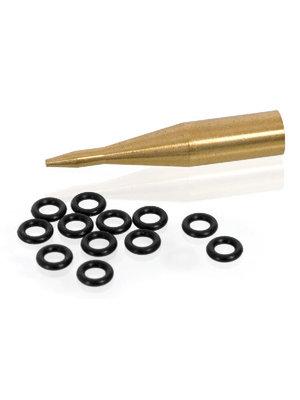 Elkadart Rubberen ringetjes voor aluminium shafts incl. adapter