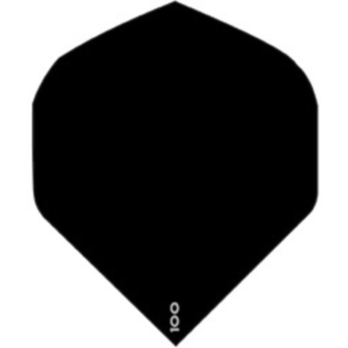ABCDarts abcdarts dartflight 100 micron plain - zwart
