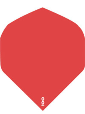 ABCDarts abcdarts dartflight 100 micron plain - rood
