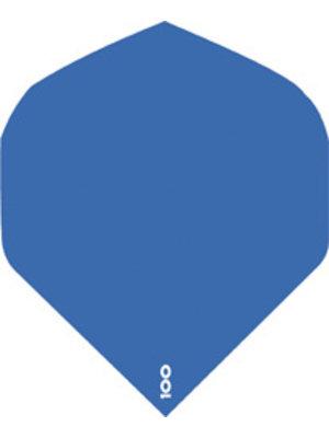 ABCDarts abcdarts dartflight 100 micron plain - blauw