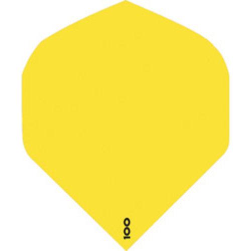 ABCDarts abcdarts dartflight 100 micron plain - fluor geel