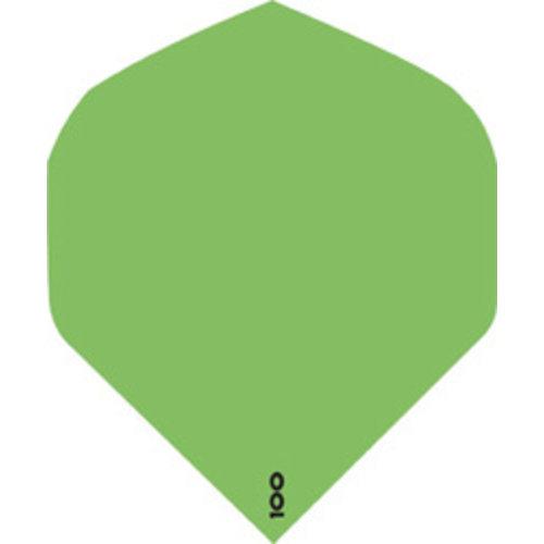 ABCDarts abcdarts dartflight 100 micron plain - fluor groen
