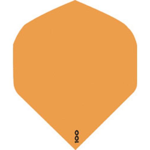 ABCDarts abcdarts dartflight 100 micron plain - fluor oranje