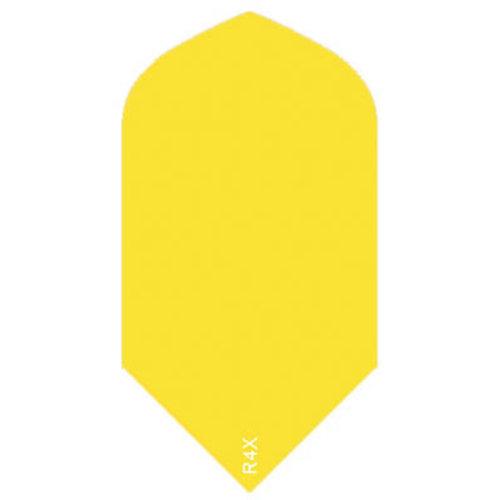 Ruthless ruthless R4X dartflight 100 micron slim plain - fluor geel