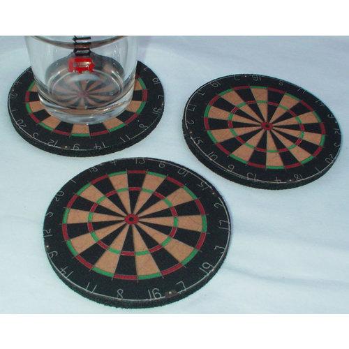 ABCDarts Dartbord onderzetters - set van 3 stuks