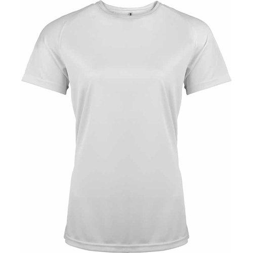 Hardloopshirt dames wit