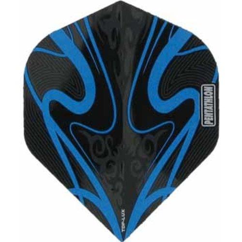 Pentathlon Pentathlon TDP LUX dartflight - swirl cyan blauw
