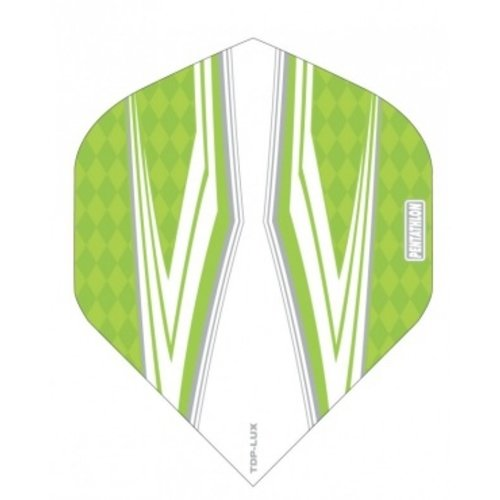 Pentathlon Pentathlon TDP LUX dartflight - spitfire wit groen