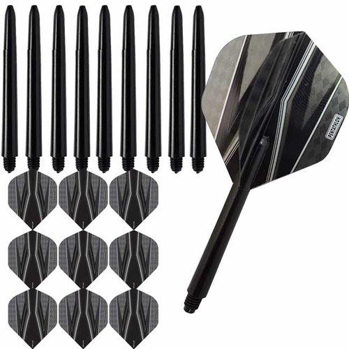 Pentathlon Pentathlon dartflights combiset spitfire zwart