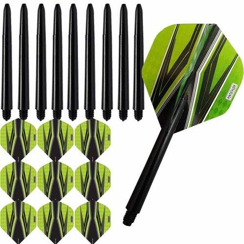 Pentathlon Pentathlon dartflights combiset spitfire zwart groen